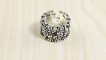 CHROME HEARTS RING_CEMETERY Solid 925 Sterling Silver CHR023