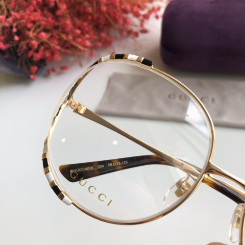 Wholesale Replica 2020 Spring New Arrivals for GUCCI Eyeglasses GG0596OA Online FG1244