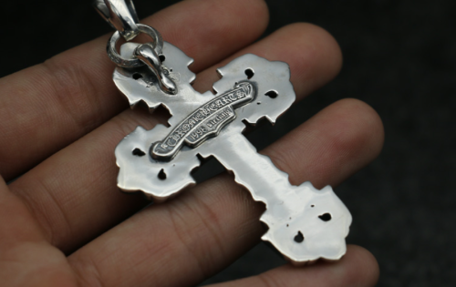 Chrome Hearts Pendant Filigree Cross CHP019 Solid 925 Sterling Silver