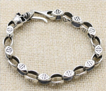 CHROME HEARTS Punk Hip Hop 925 Sterling Silver Bracelet CHB039