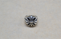 Chrome Hearts Ring Double Floral CHR086 Solid 925 Sterling Silver