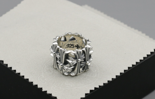 Chrome Hearts Ring Cemetery CHR074 925 Silver Ring (Round)
