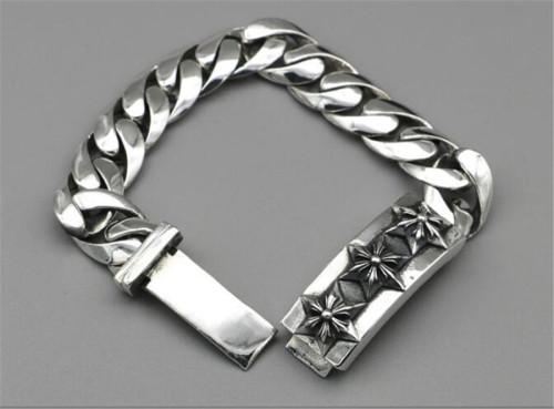 CHROME HEARTS BRACELET sterling silver bracelet thick punk CHB072