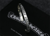 Chrome Hearts Open Bangle CHT010 FUCK Solid 925 Sterling Silver