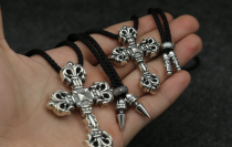 Chrome Hearts Pendant Filigree Cross With Chain CHP011 Solid 925 Sterling Silver