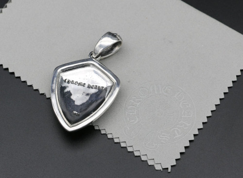 Chrome Hearts Pendant Shield Army Fleur CHP078 Solid 925 Sterling Silver