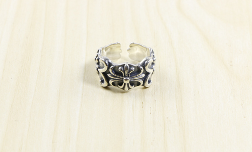 Chrome Hearts CH Cross Open Ring CHR080 Solid 925 Sterling Silver