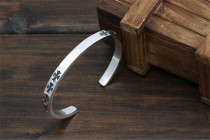 Chrome Hearts Bangle Open CHT003 CH CROSS Solid 925 Sterling Silver