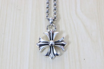 Chrome Hearts Pendant CH CROSS  Flower CHP099 Solid 925 Sterling Silver