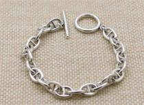 CHROME HEARTS Ring Simple 925 Silver Bracelet CHB019