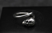 Chrome Hearts Ring Double Floral Open Rings Solid 925 Sterling Silver CHR046