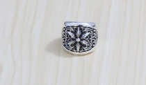 CHROME HEARTS/RING CLASSIC OVAL STAR Solid 925 STERLING SILVER CHR026