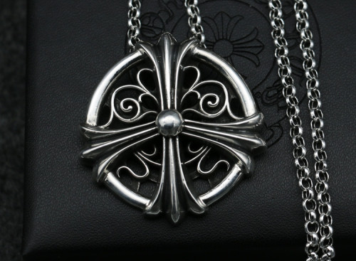 Chrome Hearts Pendant CH CROSS Ring CHP083 Solid 925 Sterling Silver