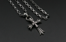 Chrome Hearts Pendant Double CH Cross CHP023 Solid 925 Sterling Silver