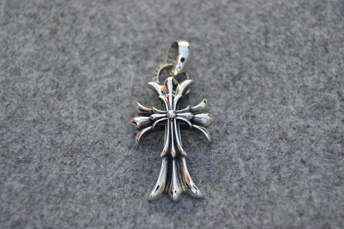 Chrome Hearts Pendant Double CH CROSS Oring CHP077 Solid 925 Sterling Silver