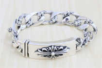 CHROME HEARTS Youth Crusade Flower S925 Sterling Silver Bracelet CHB051