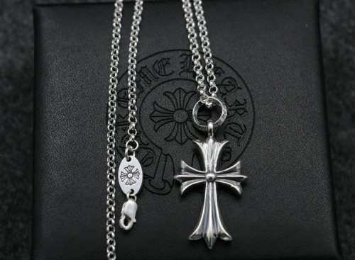 Chrome Hearts Pendant CR CROSS Oring CHP079 Solid 925 Sterling Silver