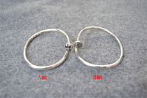 Chrome Hearts Bangle Open Nail CH Fleur CHT035 Solid 925 Sterling Silver