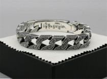 CHROME HEARTS Rough Vintage Buddhist Gold Bracelet CHB048