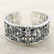 Chrome Hearts Wide Bangle CH CROSS CHT055 925 Silver
