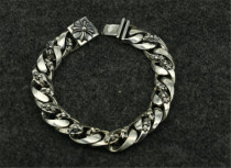 CHROME HEARTS Gothic Punk Silver Bracelet CHB068