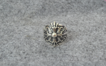 Chrome Hearts Pete Punk Dual Stack Ring Solid 925 Sterling Silver CHR048