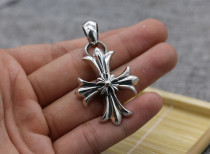 Chrome Hearts Pendant CH CROSS FLOWER CHP103 Solid 925 Sterling Silver