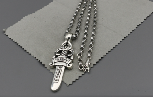 Chrome Hearts Pendant Dagger CHP025 Solid 925 Sterling Silver