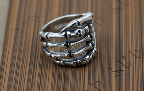 Chrome Hearts Bone Ring CHR071 925 Sterling