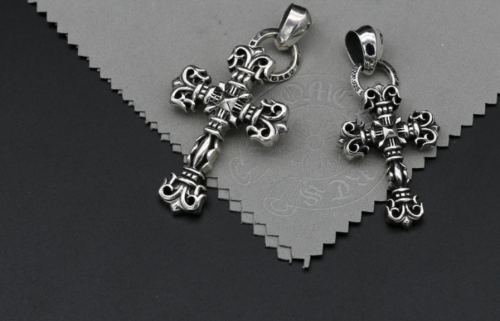 Chrome Hearts Pendant Filigree Cross CHP016 Solid 925 Sterling Silver