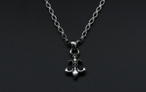 Chrome Hearts Pendant BS Fleur CHP029 Solid 925 Sterling Silver