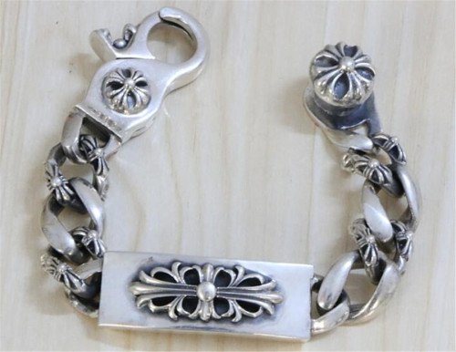 CHROME HEARTS BRACELET Gothic 925 Sterling Silver Scout Engraved Bracelet CHB087