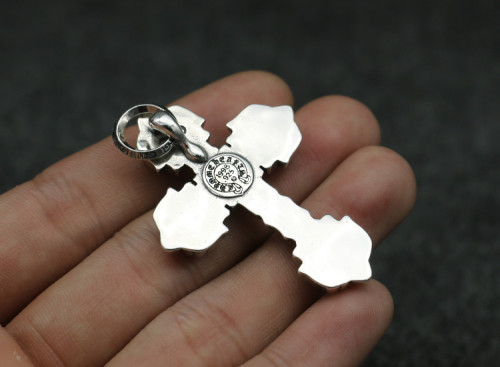 Chrome Hearts Pendant Filigress CROSS CHP086 Solid 925 Sterling Silver