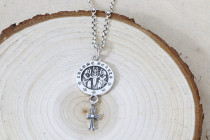 Chrome Hearts Pendant Double Men Dagger CH CROSS CHP096 Solid 925 Sterling Silver
