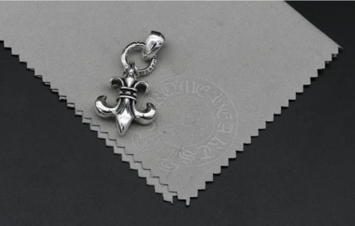 Chrome Hearts Pendant BS Fleur Plain Bail CHP031 Solid 925 Sterling Silver