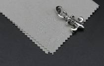 Chrome Hearts Pendant BS Fleur Plain Bail CHP031 Solid 925 Sterling Silver