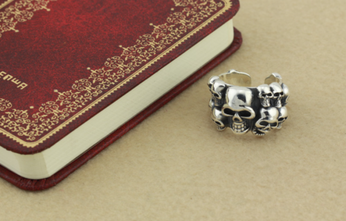 Chrome Hearts Skull Open Ring CHR082 Solid 925 Sterling Silver
