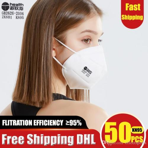 Medical masks 50 / Pcs KN95 Mask KN95 N95 Disposable Mask Protective Mouth Mask Masks 95% Filtration Anti-Dust Against Droplet flu Free free shipping