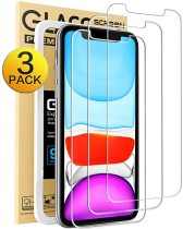 Compatible with iPhone XR Screen Protector, IPhone 11 Screen protector,Tempered Glass Film for Apple iPhone XR & iPhone 11, 3-Pack Clear