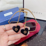 Replica GUCCI G0721 Sunglasses Chain Heart Pendant SG673