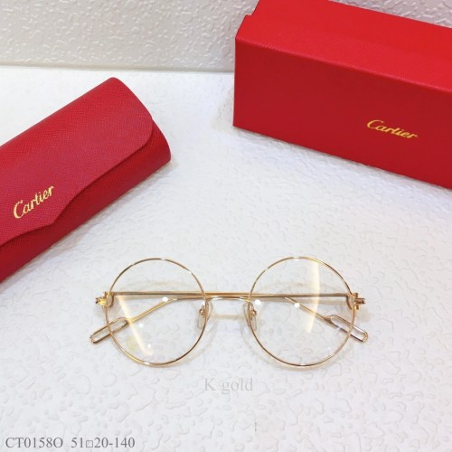 Cartier Metal CT0158O Eyeglass Optical Frames FCA325