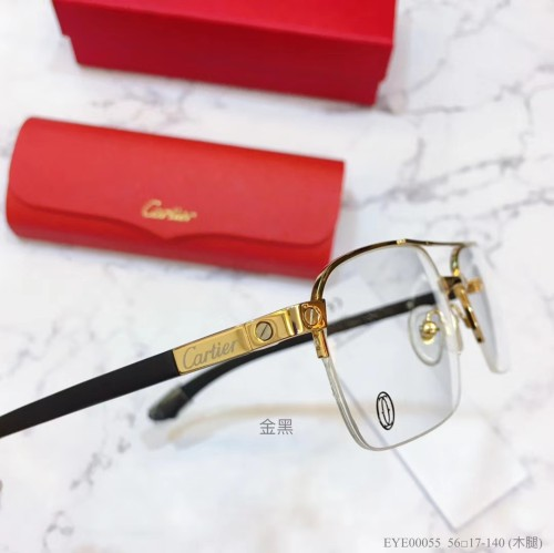 Cartier Eyeglass Wooden Leg EME00055 Wood Optical Frames FCA333
