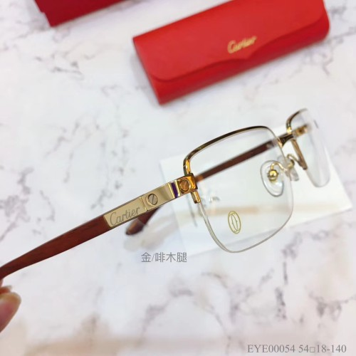 Cartier Eyeglass Wooden Leg EYE00054 Wood Optical Frames FCA335
