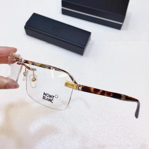 MONT BLANC Glass MB0449 Wood Eyeware Optical Frames FM366