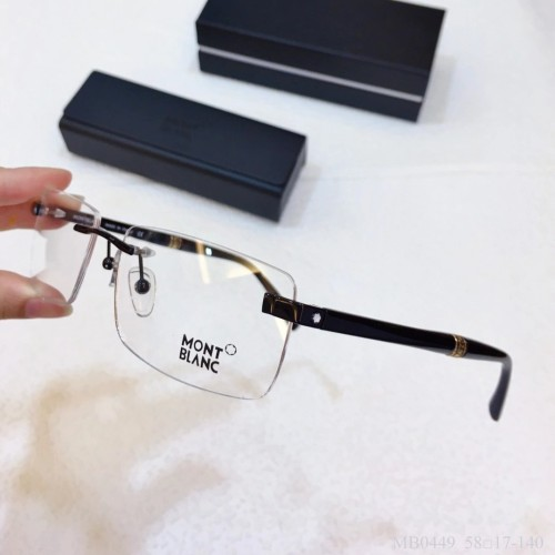 MONT BLANC Glass MB0449 Wood Eyeware Optical Frames FM366