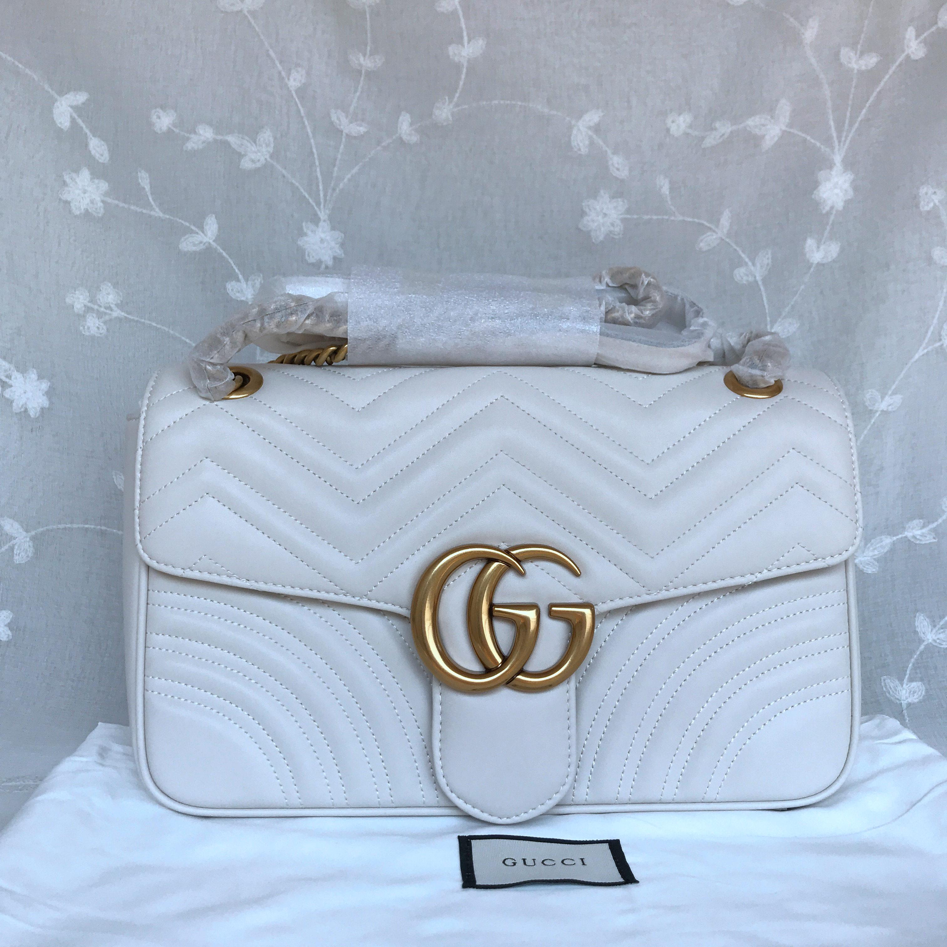 Gucci Marmont medium matelasse shoulder Bag 443496