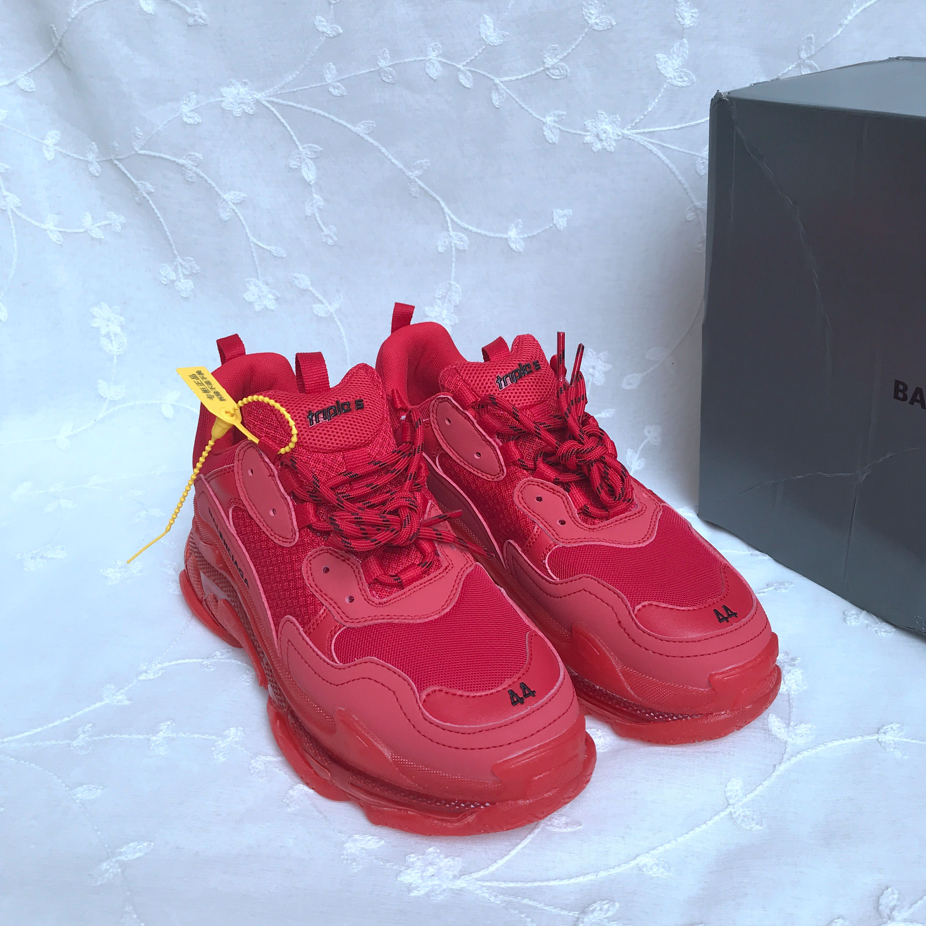Balenciaga Triple S Mesh & Leather Sneakers  424411