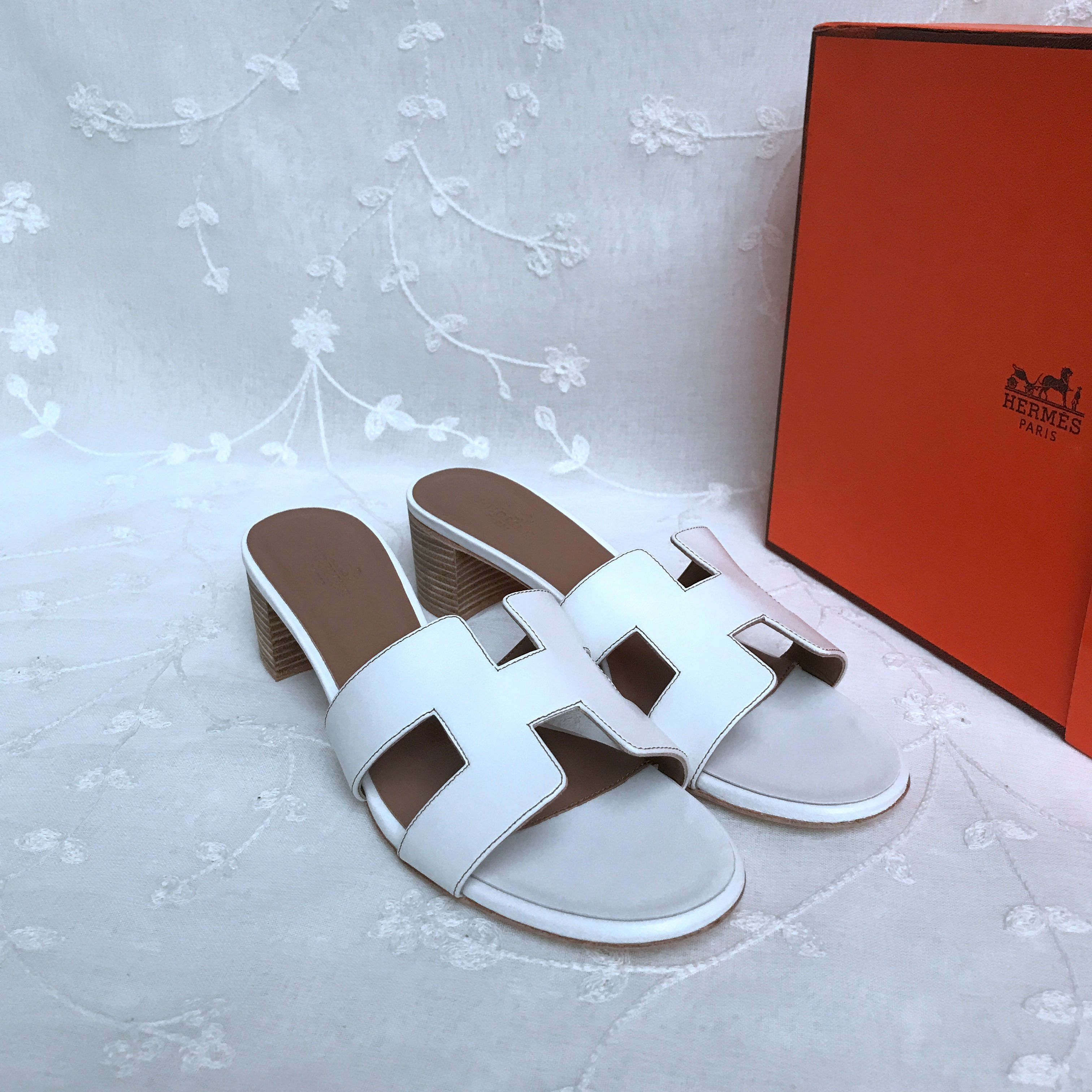 Hermes Block heel slippers 429667