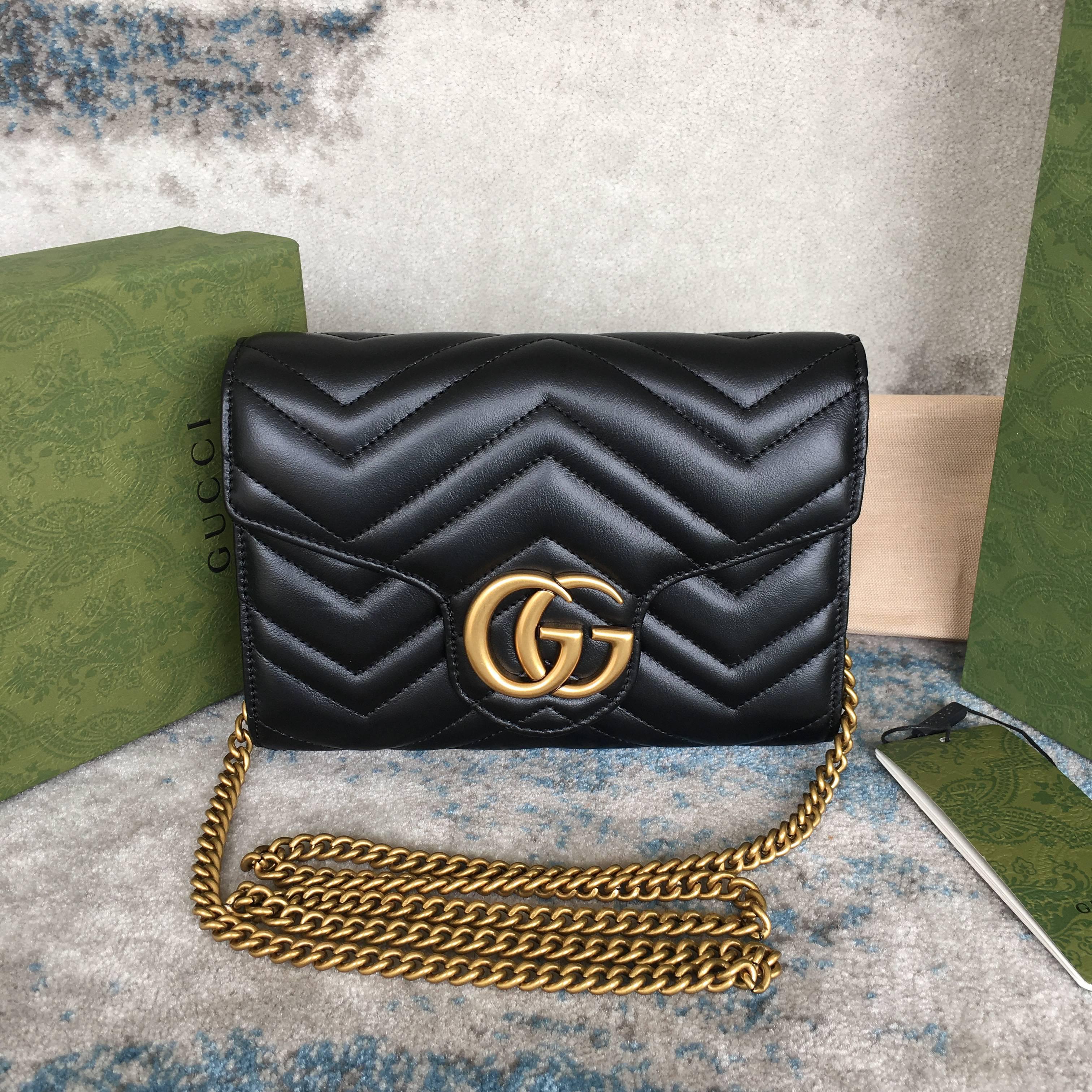 Gucci Marmont matelassé mini bag 474575