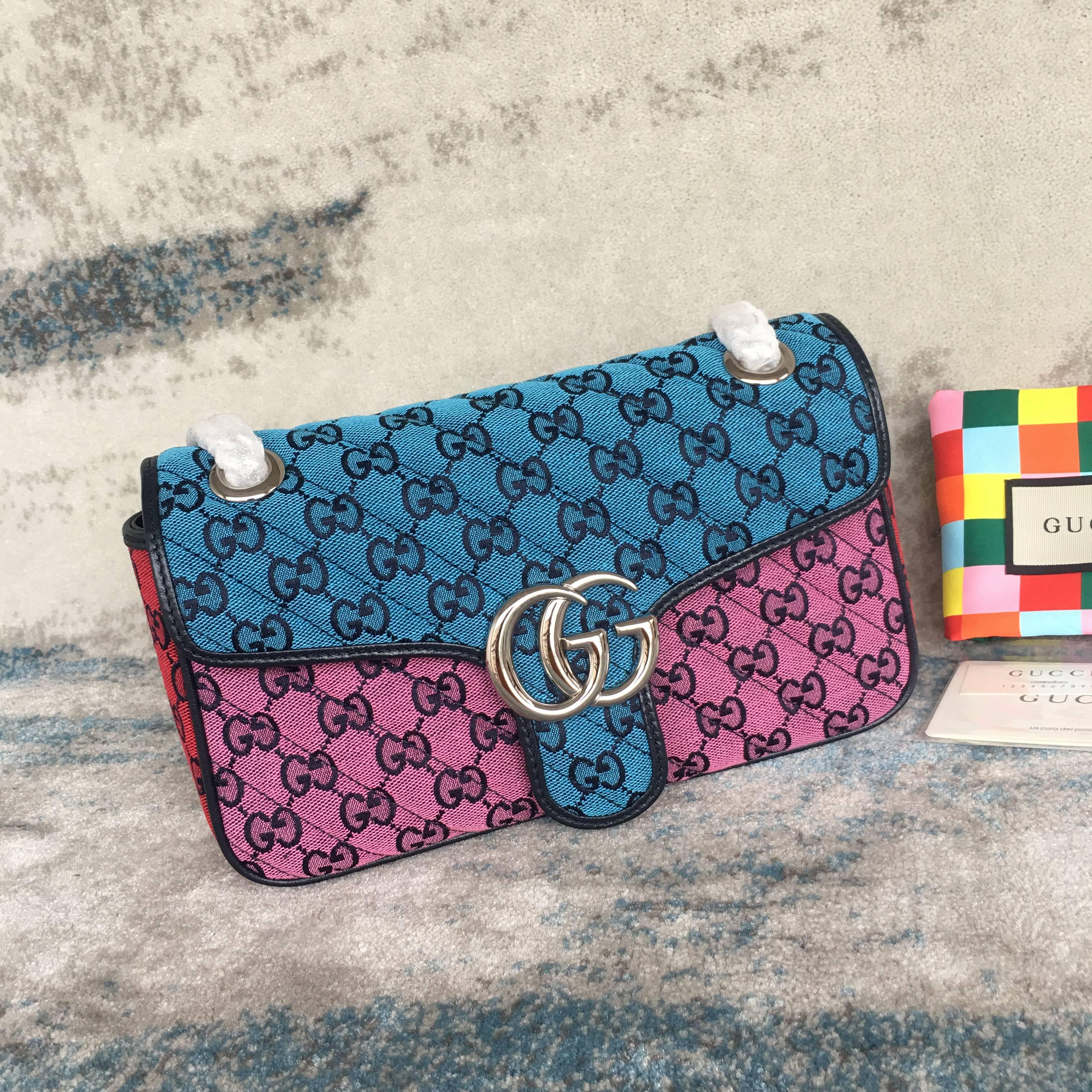 Gucci Marmont Multicolor small shoulder bag 443497